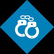 Handschellen - bildlich für Strafrecht